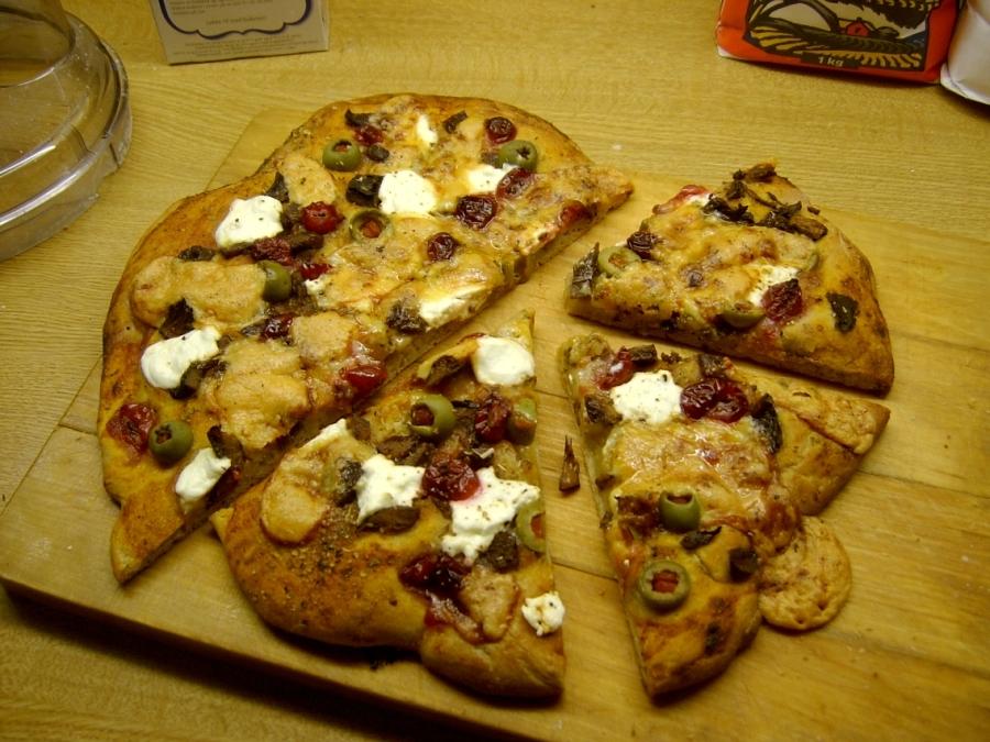 Pizza etter steking