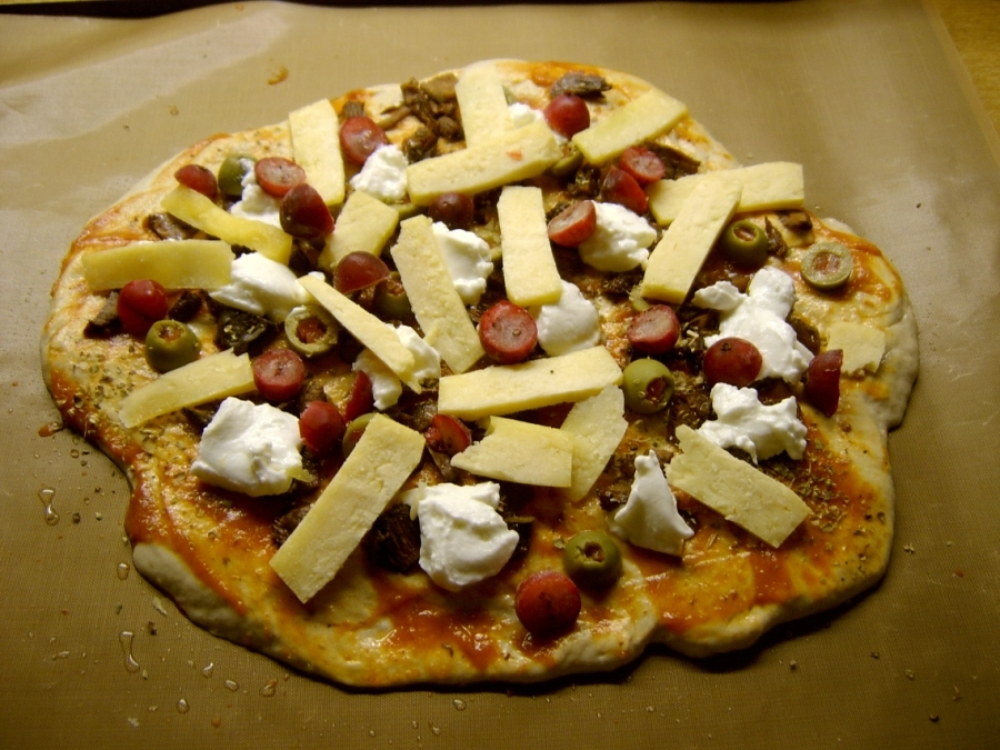 Pizza før steking