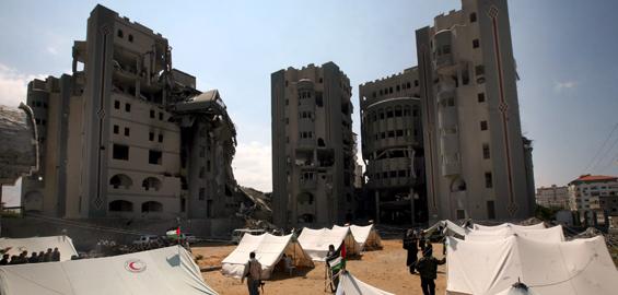 Mer enn 100 000 er hjemløse i Gaza (foto: EPA)