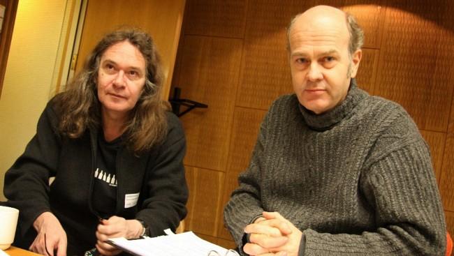 Ingvar Ambjørnsen og Erik Poppe. Foto: Hege Fagerheim NRK